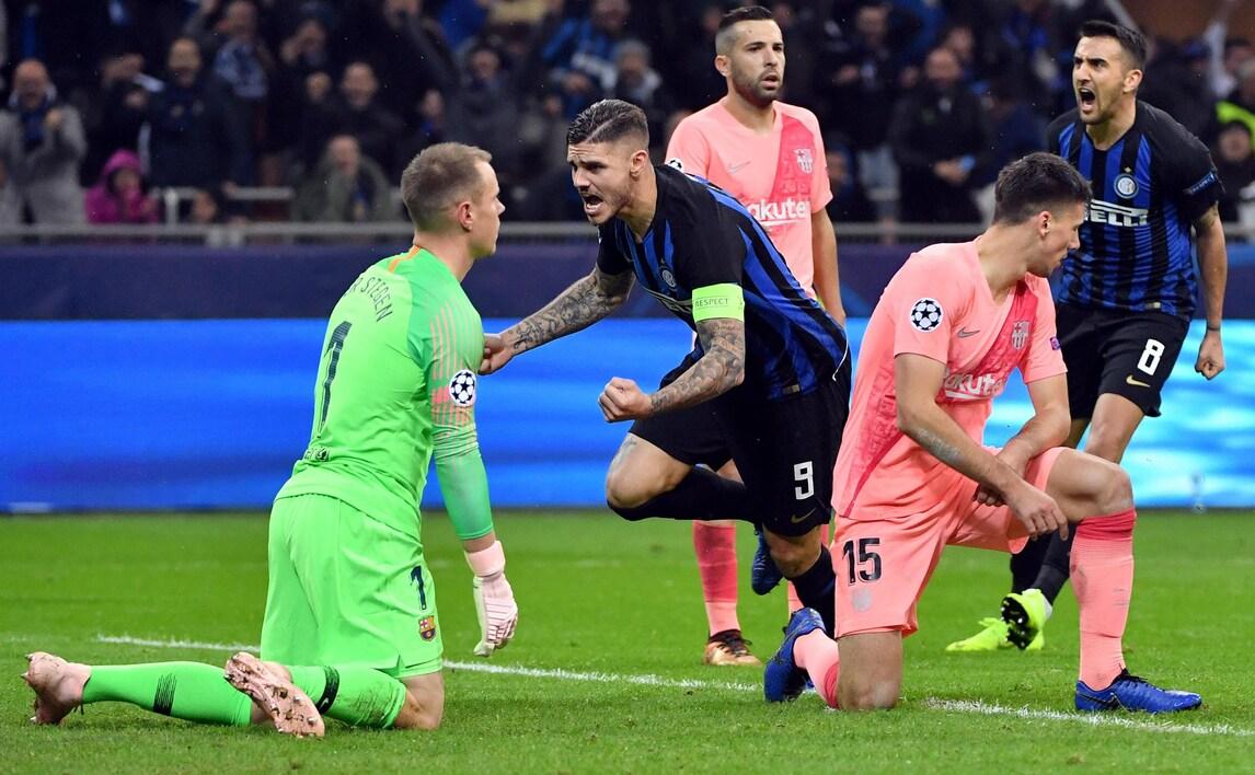 Champions League, Inter-Barcellona 1-1: Icardi risponde a Malcom