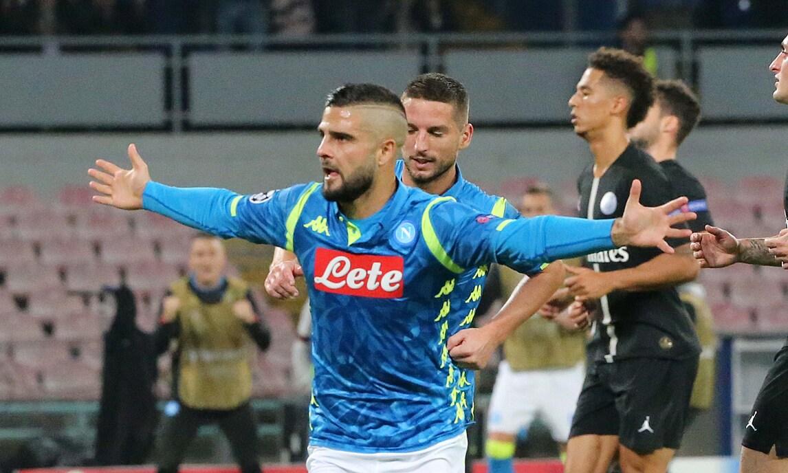 Champions League, Napoli-Psg 1-1: Insigne risponde a Bernat