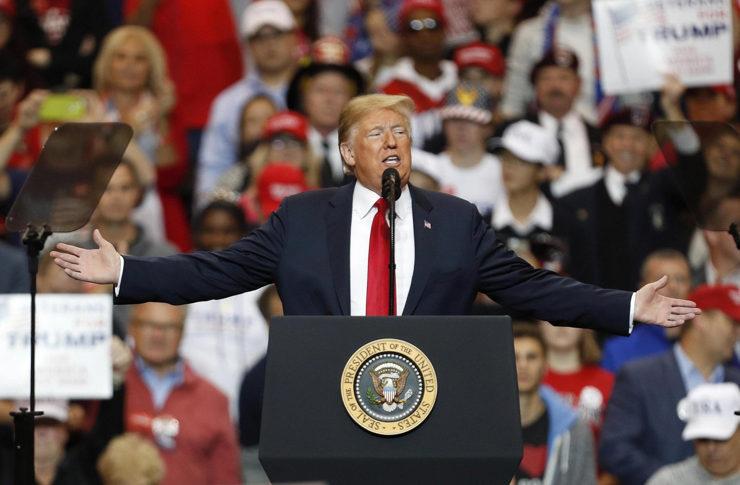 Trump: 'Un enorme successo stasera'