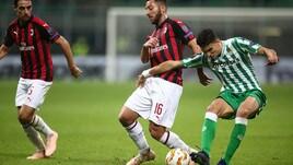 Europa League: Milan, contro il Betis si fa dura
