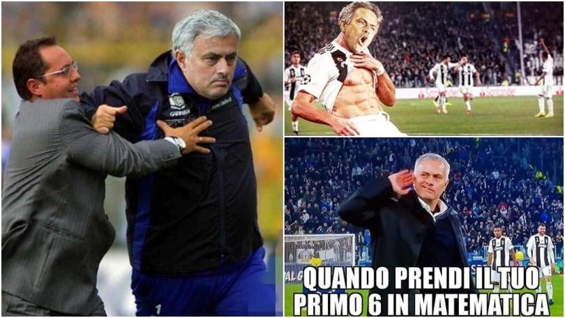Juventus, la vendetta di Mourinho è già virale sui social