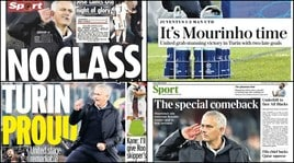 «Senza classe», «Rimonta special»: Mourinho divide anche i media inglesi
