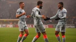 Europa League, Sarri da record. Siviglia, che paura! Eintracht qualificato