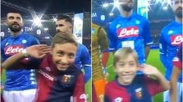 Genoa-Napoli, i bambini imitano Mourinho