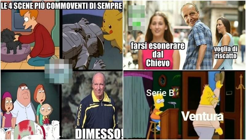 Ventura si dimette dopo quattro giornate: sui social impazzano i meme