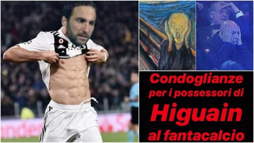 Higuain perde partita e testa contro la Juventus: i social non perdonano