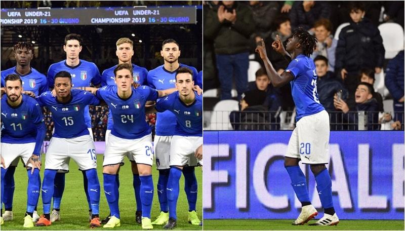 L'Italia Under 21 domina ma cede 2-1. Kean è una furia