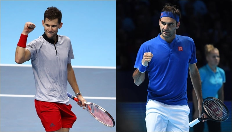 Tennis, Atp Finals: prima vittoria per Thiem. Federer in semifinale