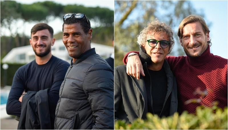 Roma: Aldair, Aquilani e Moriero in visita a Trigoria