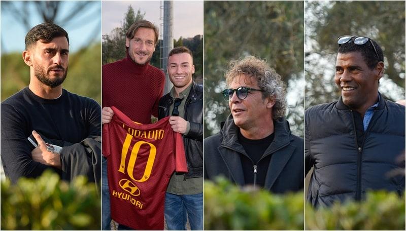 Roma, ospiti a sorpresa: Aldair, Aquilani e Moriero