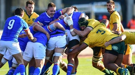 Rugby, l'Italia cede 26-7 all'Australia