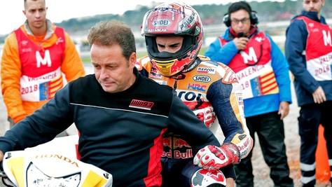 MotoGp Valencia, Marquez: «Felice per aver salvato la qualifica»