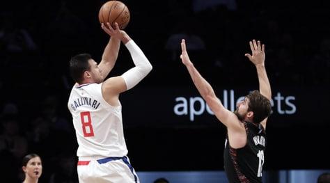Nba, volano i Clippers trascinati da Gallinari
