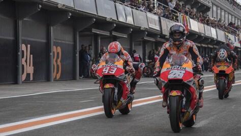 MotoGp Valencia: gara sospesa per pioggia al 13esimo giro