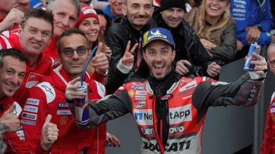 MotoGp Ducati, Dovizioso: «Felice di aver chiuso con una vittoria»