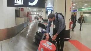 Gli All Blacks atterrati a Fiumicino per la sfida contro l'Italia