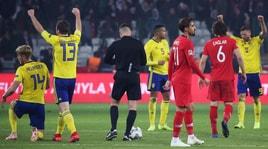 Bufera su Turchia-Svezia: «L'arbitro mi ha promesso il rigore»