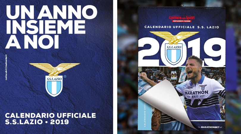 Calendario SS Lazio 2019 in edicola da giovedì 22 novembre