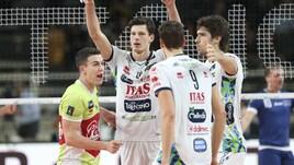 Volley: Cev Cup, Trento nell'andata dei 16i travolge il Losanna