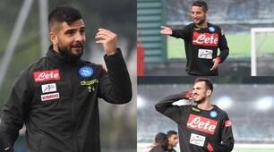 """Napoli, tutti in posa: Fabian Ruiz """"parla"""" al telefono"""