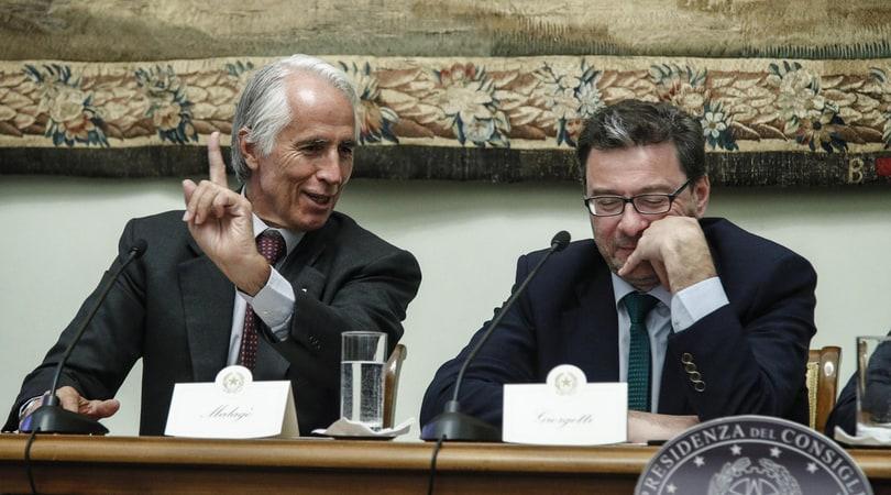 Giorgetti, caffè con Malagò al Coni: «Modifiche alla riforma? Adesso vediamo...»