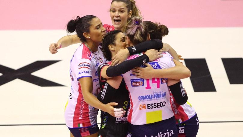 Volley: A1 Femminile, Novara travolgente a Firenze
