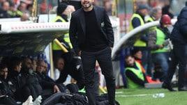 Serie A Sassuolo, De Zerbi: «Presi due gol in situazioni che si ripetono»
