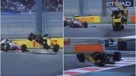 F1 Abu Dhabi, Paura Hulkenberg: Renault capovolta, pilota ok