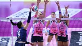 Volley:  A1 Femminile, Conegliano e Busto corsare, Scandicci perde un punto a Monza