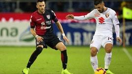 Serie A Cagliari-Torino 0-0, il tabellino