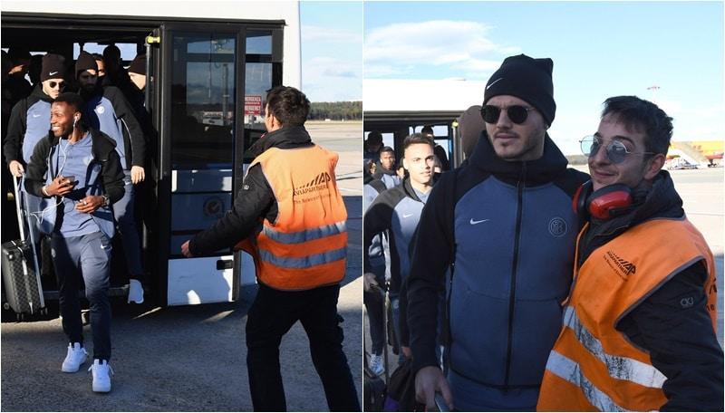L'Inter in partenza per Londra: a Malpensa, la guest star è Icardi