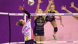 Volley: A1, Conegliano e Novara ancora di fronte per il recupero della 4a