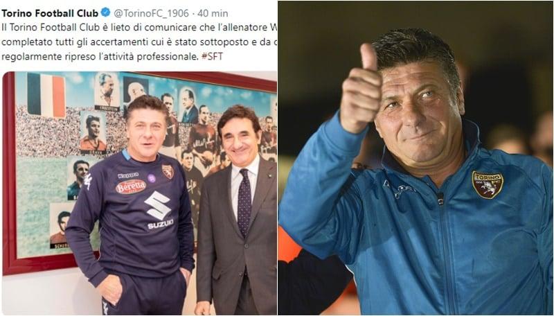 Riecco Mazzarri, il Torino:«Ha ripreso l'attività»