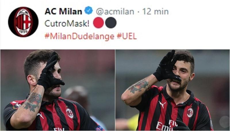 Cutrone segna ancora ed imita Dybala. Il Milan:«CutroMask!»