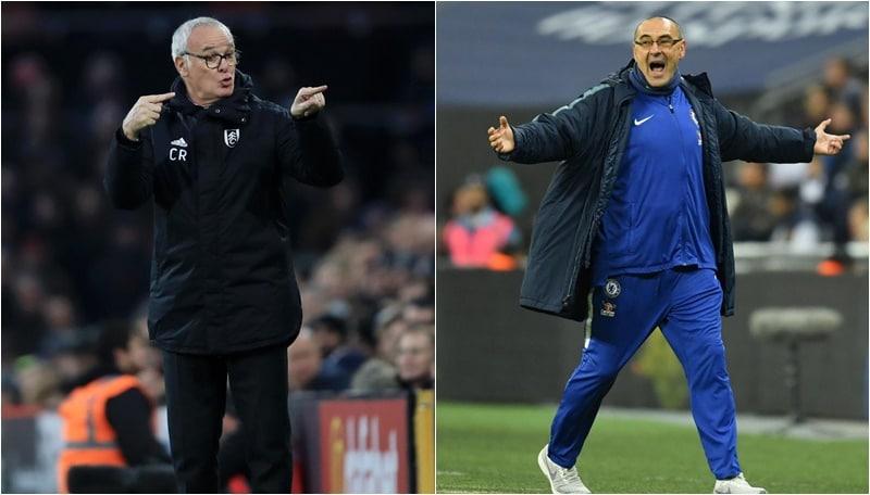 Derby italiano in Premier, Ranieri:«Sarri merita il Chelsea». E lui: «Lo stimo molto»