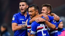 Sampdoria-Bologna 4-1: doppietta Quagliarella, agganciata la Roma