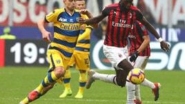 Serie A Milan-Parma 2-1, il tabellino