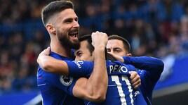 Chelsea-Fulham 2-0,Sarri piega Ranieri con le reti diPedro e Loftus-Cheek