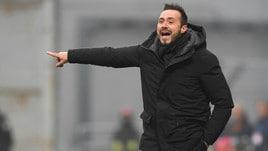 Serie A Sassuolo, De Zerbi: «Avevamo la testa a Parma nel primo tempo»