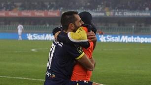 Chievo, Pellissier segna contro la Lazio e abbraccia il figlio