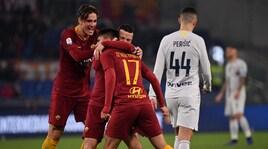 Roma-Inter 2-2: show all'Olimpico con Keita, Ünder, Icardi e Kolarov