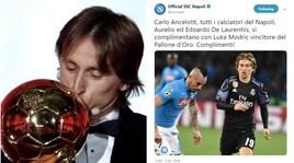 Pallone d'Oro, il Napoli omaggia Modric e scatena i tifosi della Juventus