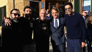 Gassman, Tognazzi, Leo e Giallini a Coverciano