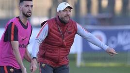 Roma, Di Francesco scatenato in allenamento