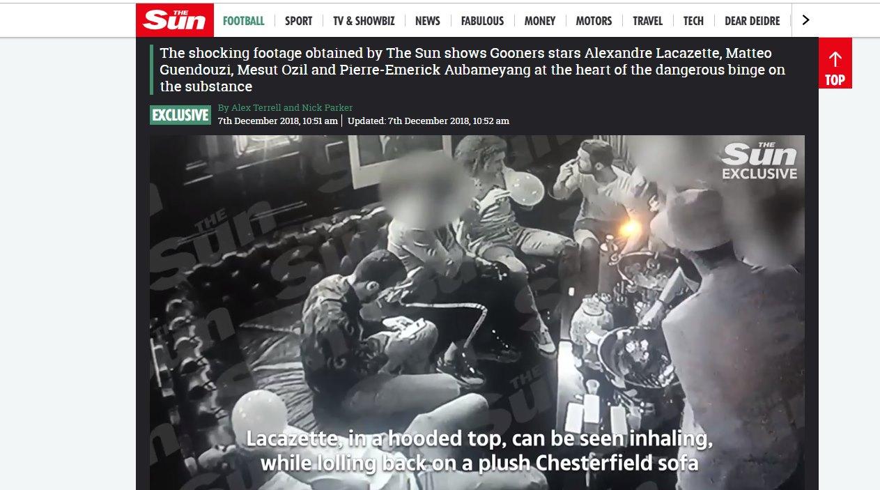 HIPPY CRACK, Scandalo in casa Arsenal
