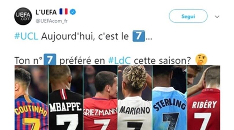 L'Uefa si dimentica di Ronaldo: i social si ribellano
