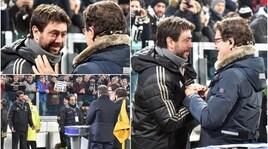 Juventus-Inter, l'abbraccio tra Andrea Agnelli e Capello
