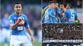 Napoli-Frosinone 4-0: riecco Ghoulam e Meret, show di Ounas