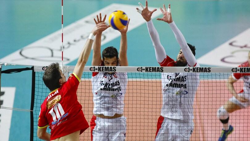 Volley: Girone Bianco, Santa Croce vince in volata contro Reggio Emilia