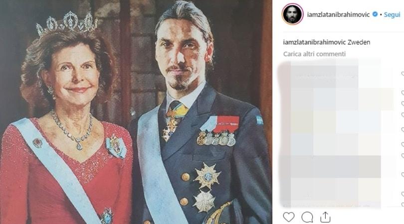"""Ibrahimovic """"posa"""" con la regina Silvia: Sono io il re di Svezia!"""